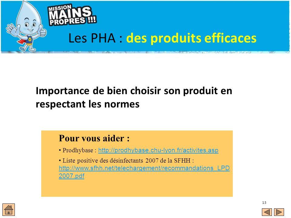 Les PHA : des produits efficaces