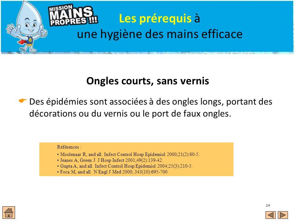 Les prérequis à une hygiène des mains efficace