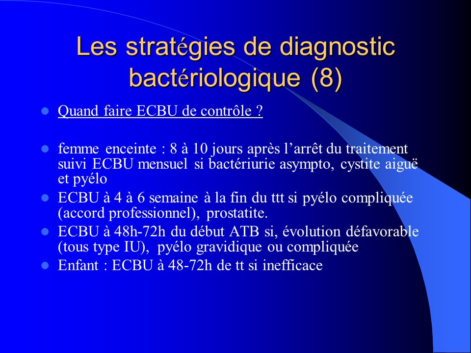 Les stratégies de diagnostic bactériologique (8)