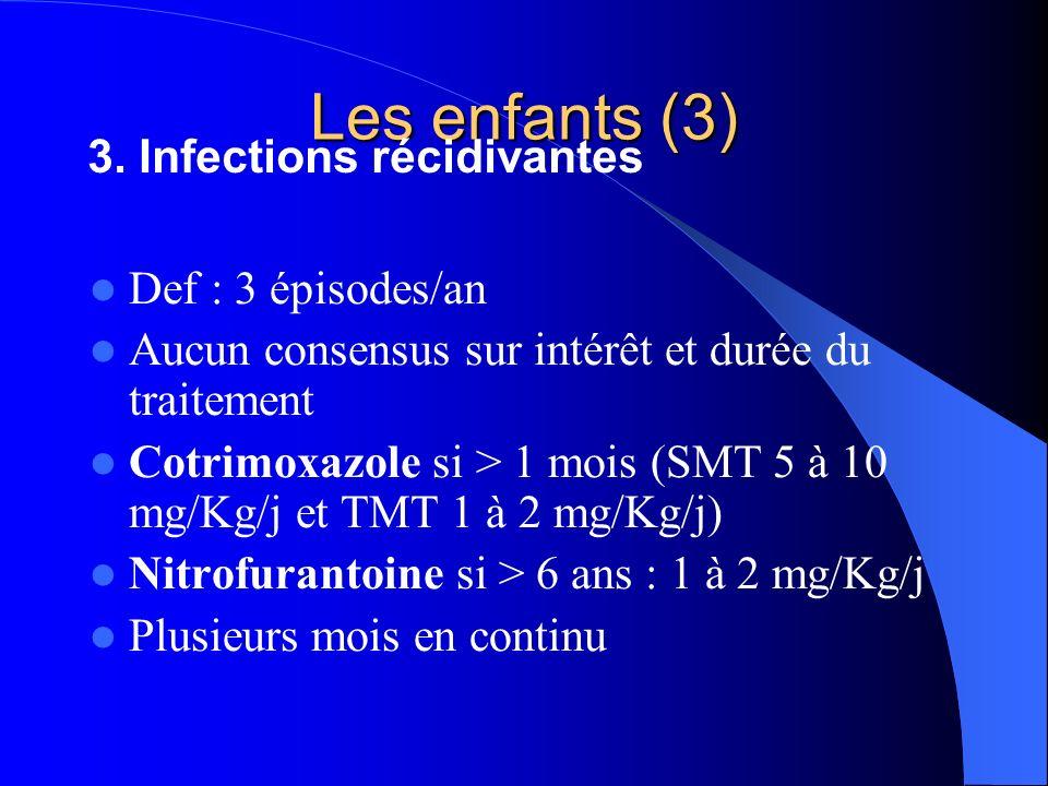 Les enfants (3) 3. Infections récidivantes Def : 3 épisodes/an