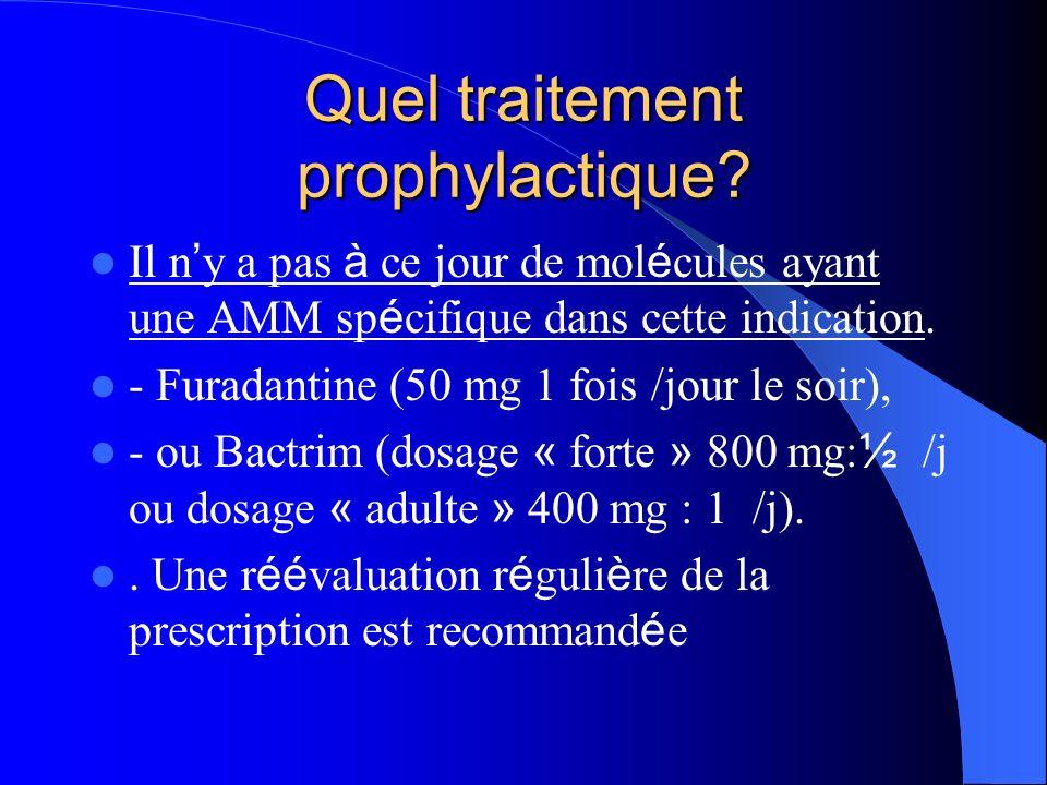 Quel traitement prophylactique