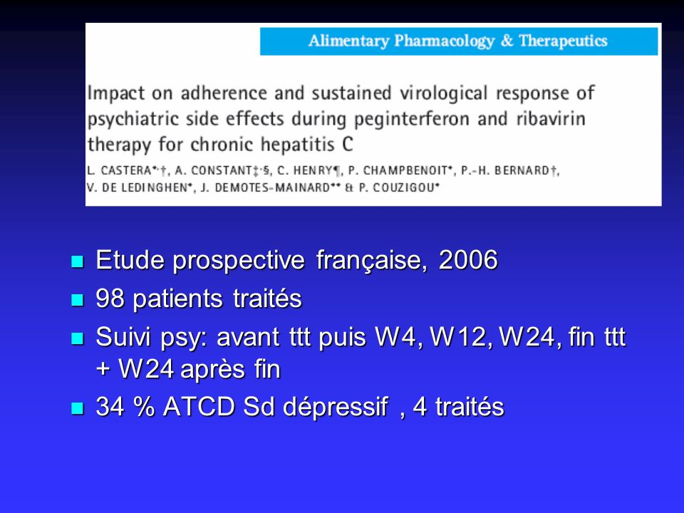 Etude prospective française, 2006