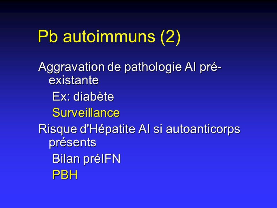 Pb autoimmuns (2) Aggravation de pathologie AI pré-existante