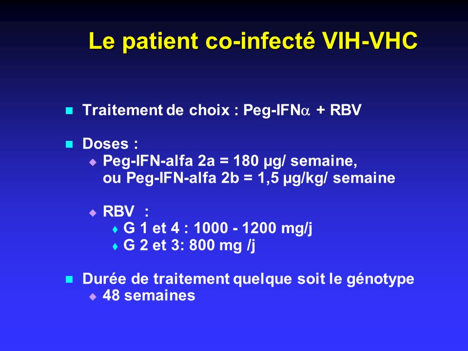 Le patient co-infecté VIH-VHC