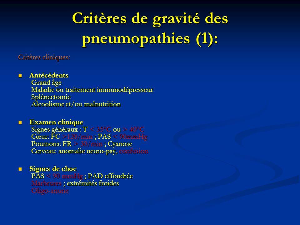 Critères de gravité des pneumopathies (1):
