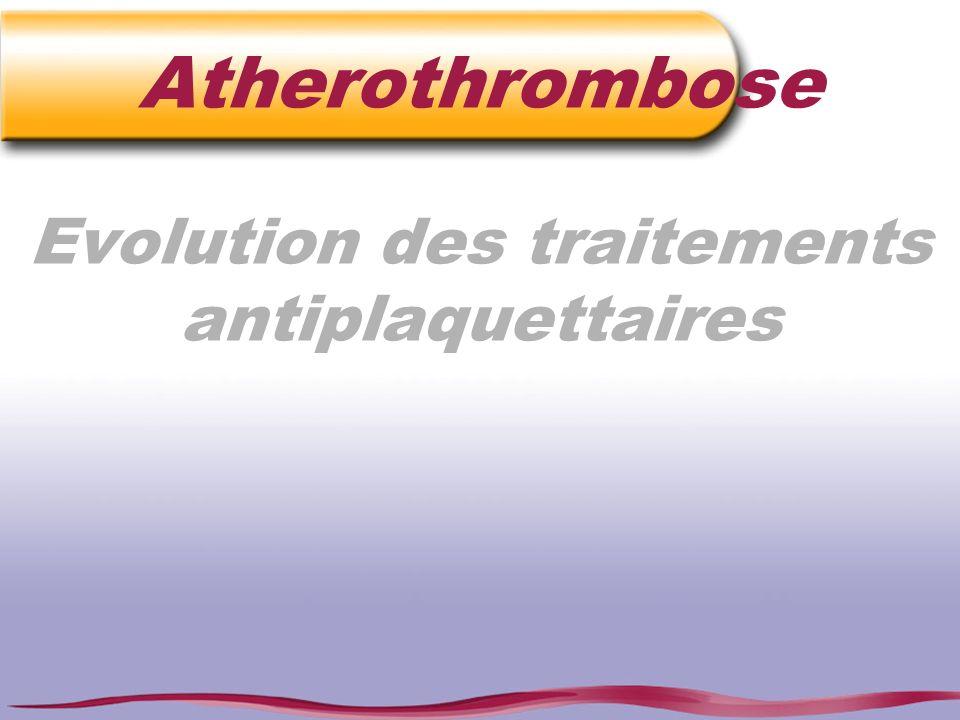Atherothrombose Evolution des traitements antiplaquettaires