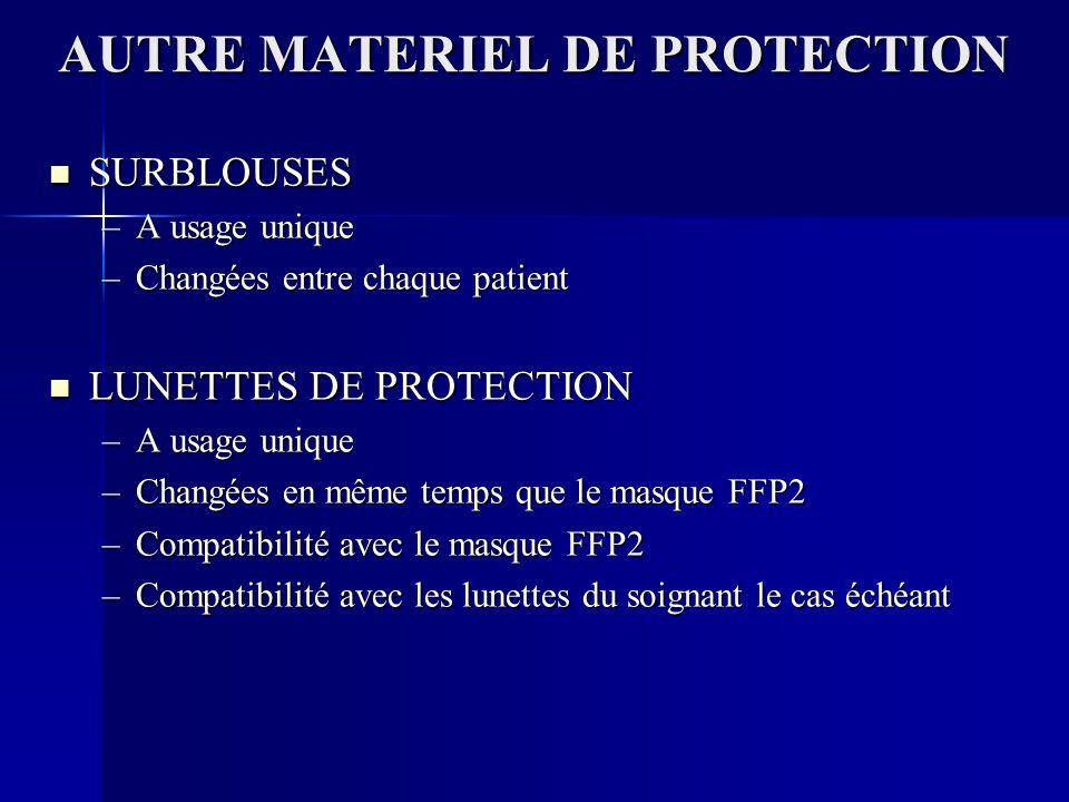 AUTRE MATERIEL DE PROTECTION