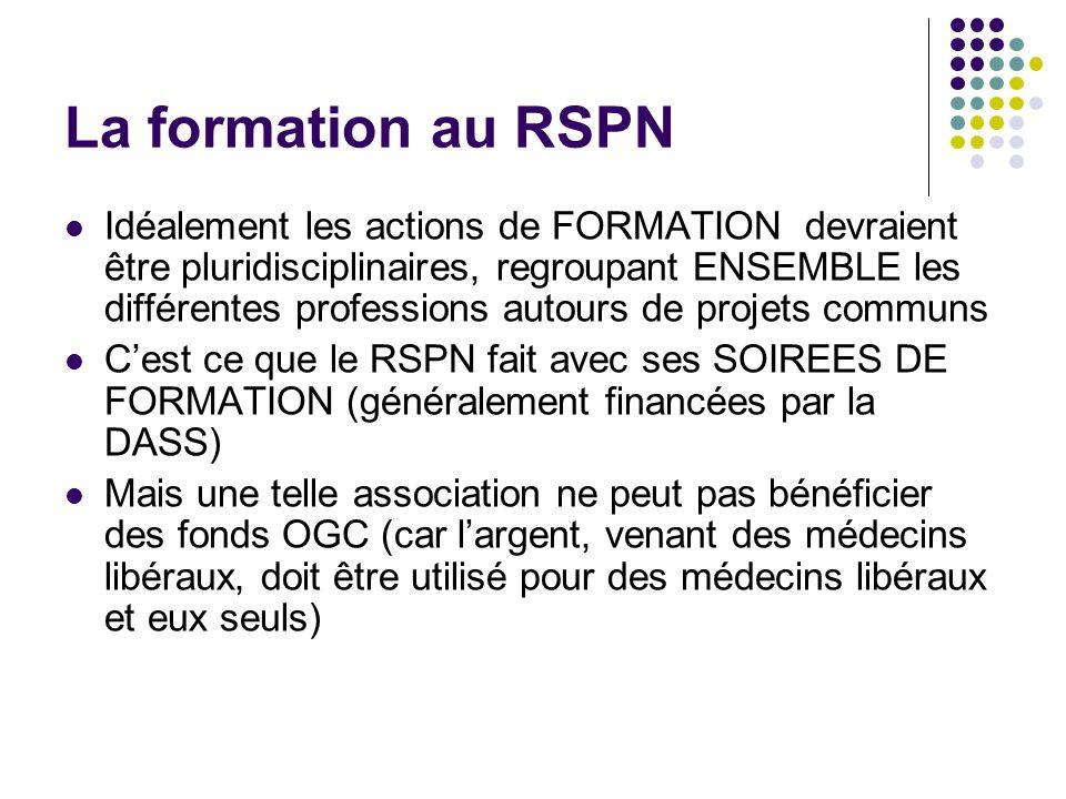 La formation au RSPN