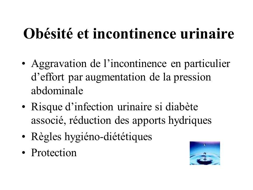 Obésité et incontinence urinaire