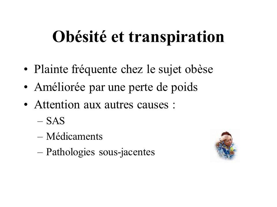 Obésité et transpiration
