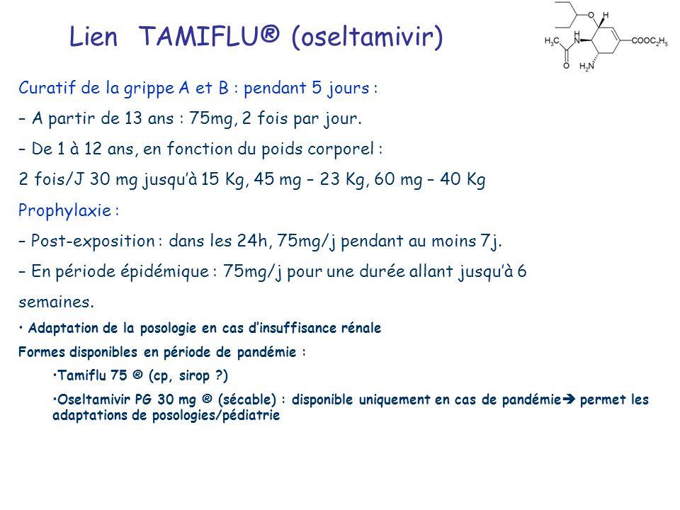 Lien TAMIFLU® (oseltamivir)