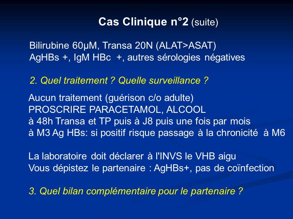 Cas Clinique n°2 (suite)