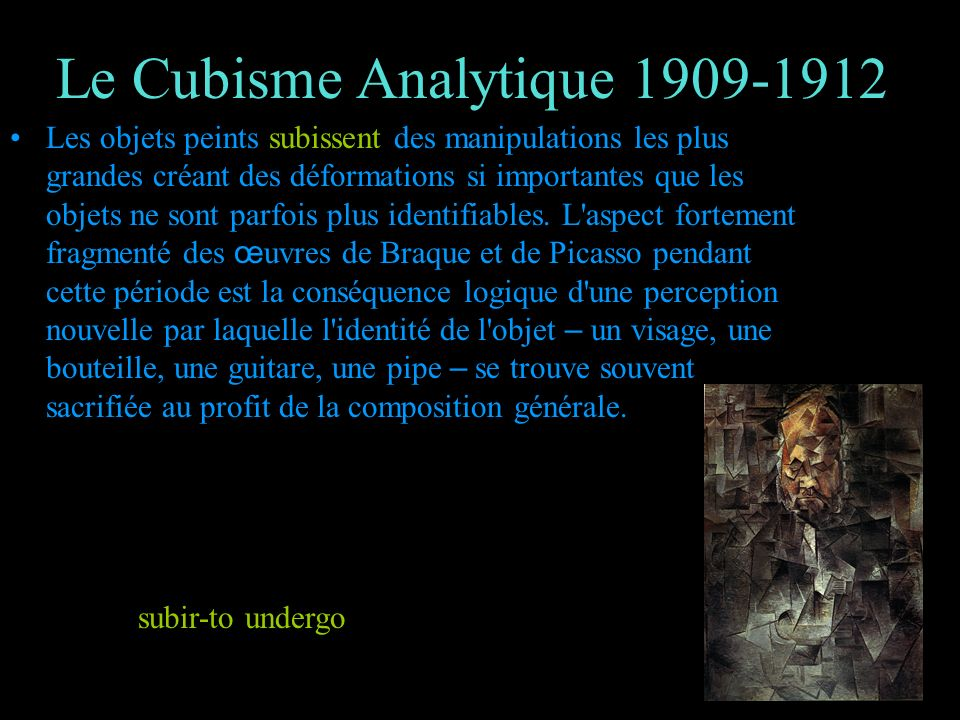 Le Cubisme Analytique 1909-1912