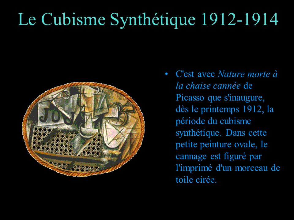 Le cubisme ppt video online t l charger - Nature morte a la chaise cannee ...