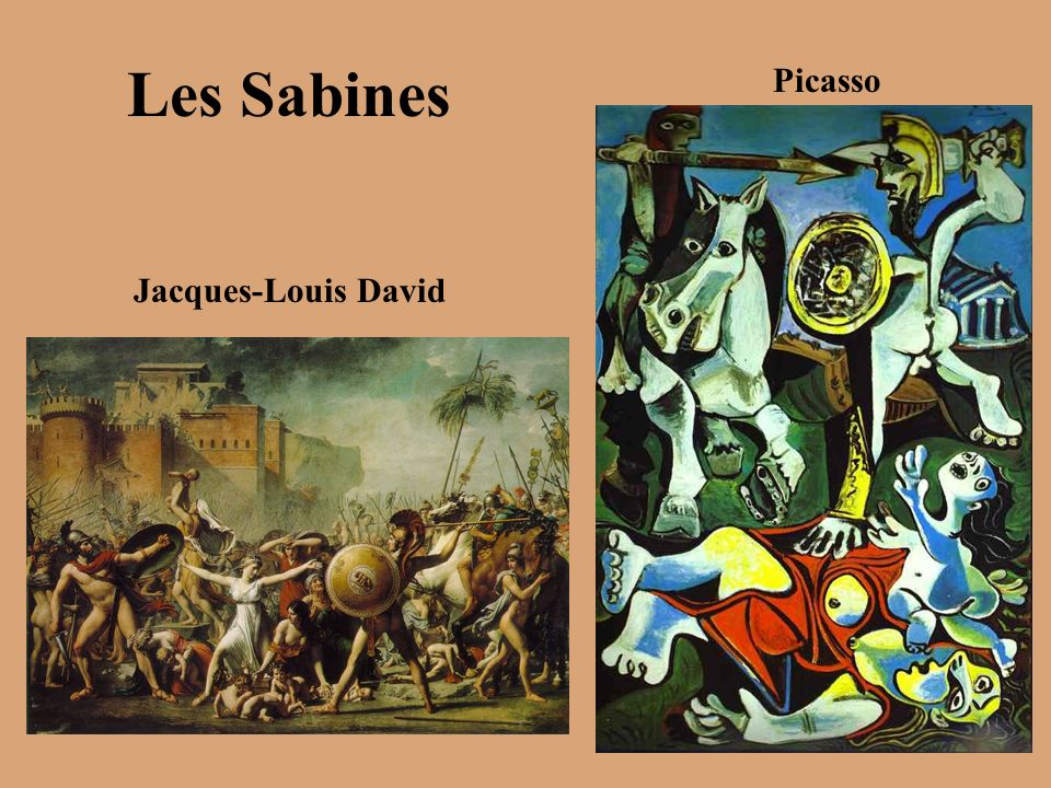 Les Sabines Picasso Jacques-Louis David