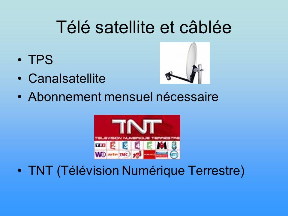 Télé satellite et câblée