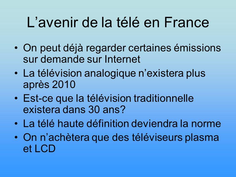 L'avenir de la télé en France