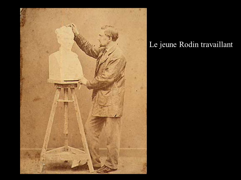 Le jeune Rodin travaillant