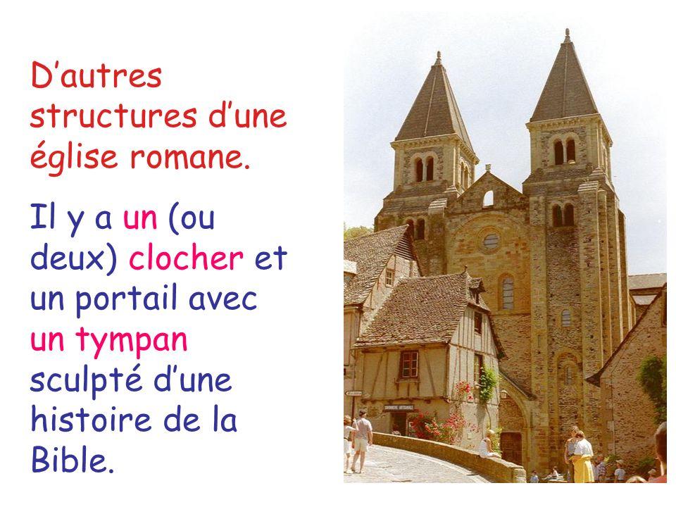 D'autres structures d'une église romane.