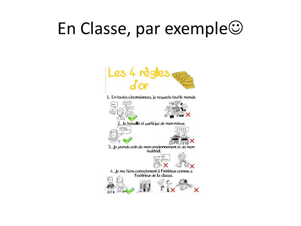 En Classe, par exemple