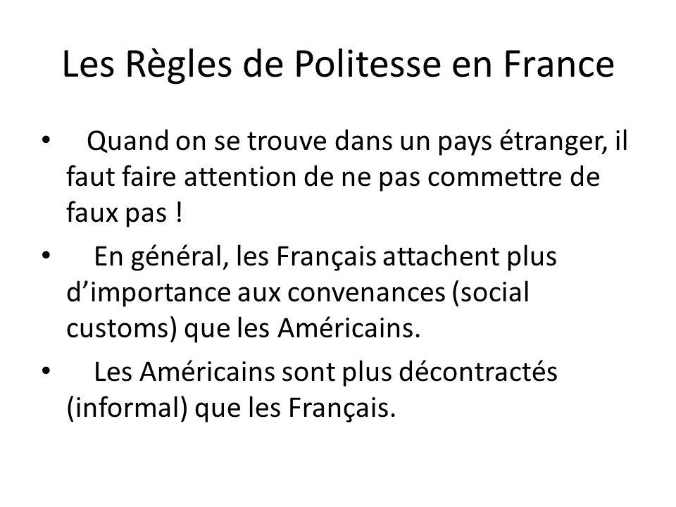 Les Règles de Politesse en France