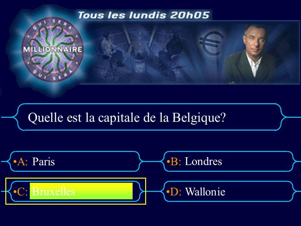 Quelle est la capitale de la Belgique
