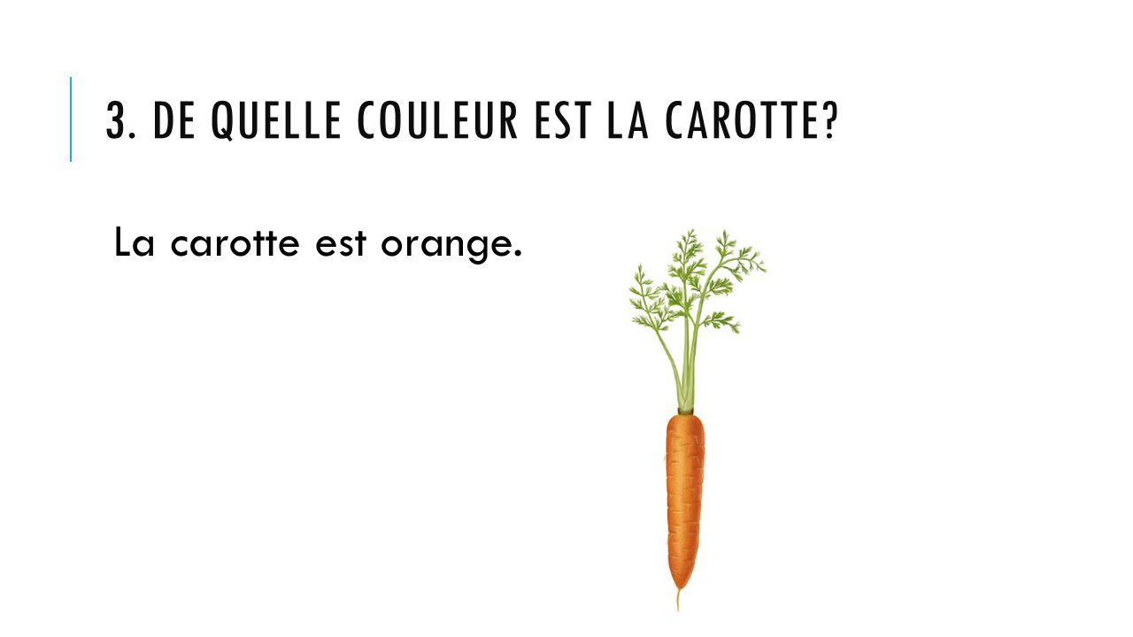 3. De quelle couleur est la carotte