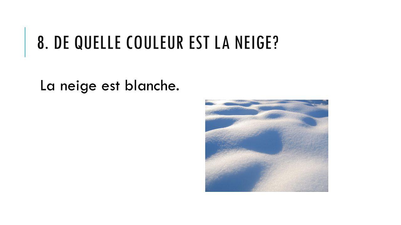 8. De quelle couleur est la neige