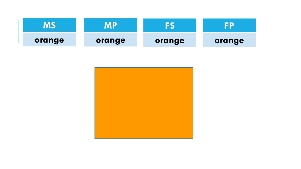 MS orange MP orange FS orange FP orange
