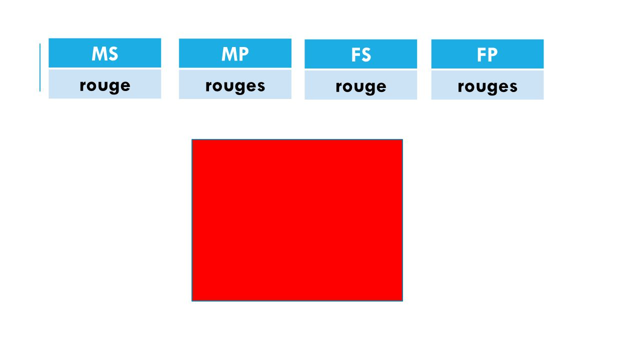MS rouge MP rouges FS rouge FP rouges
