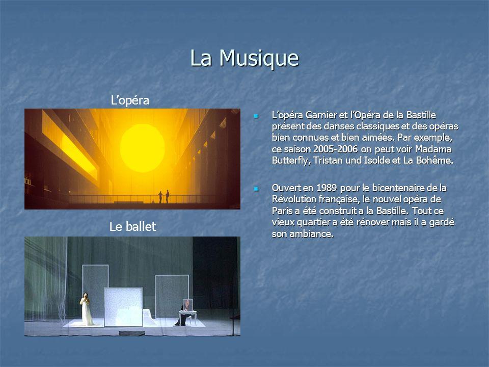 La Musique L'opéra Le ballet