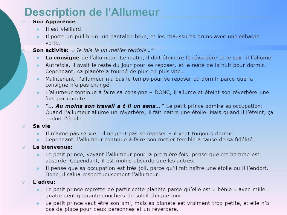 Description de l'Allumeur