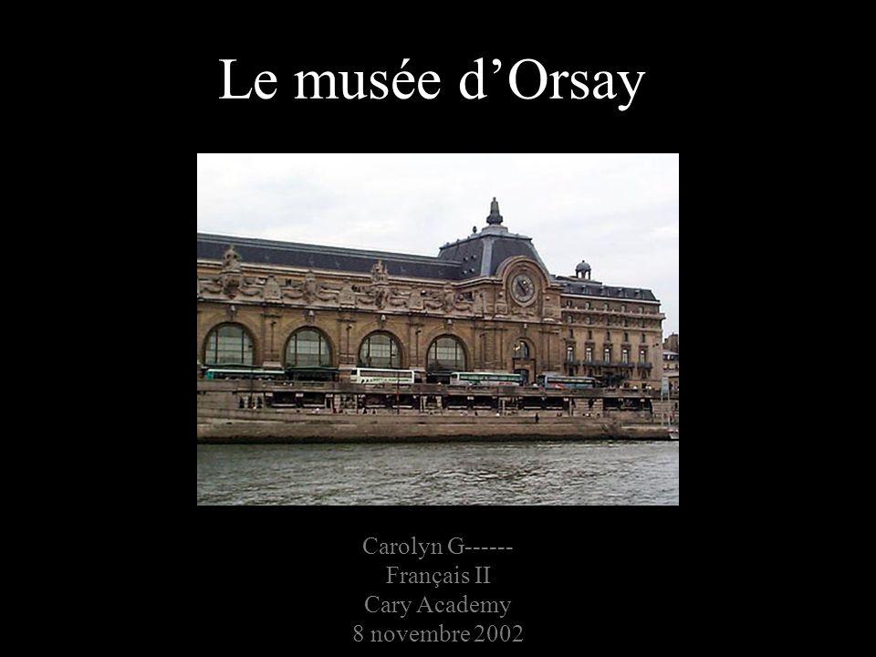 Carolyn G------ Français II Cary Academy 8 novembre 2002