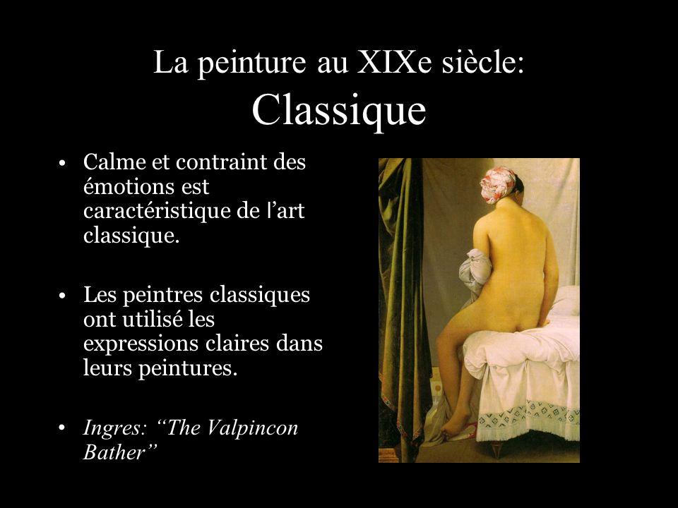 La peinture au XIXe siècle: Classique