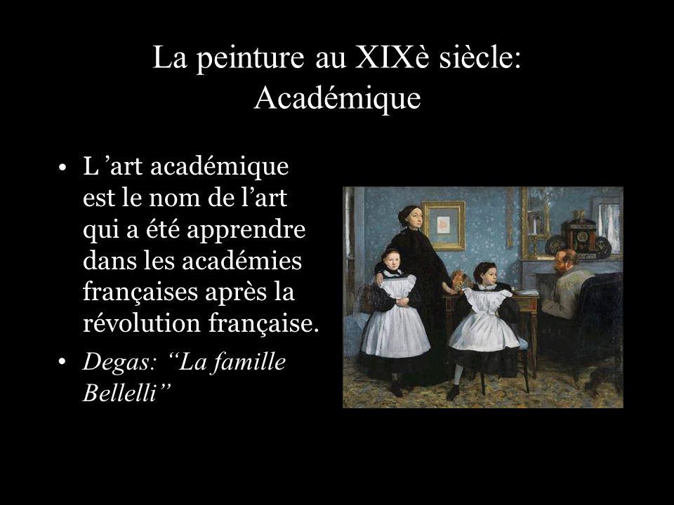 La peinture au XIXè siècle: Académique