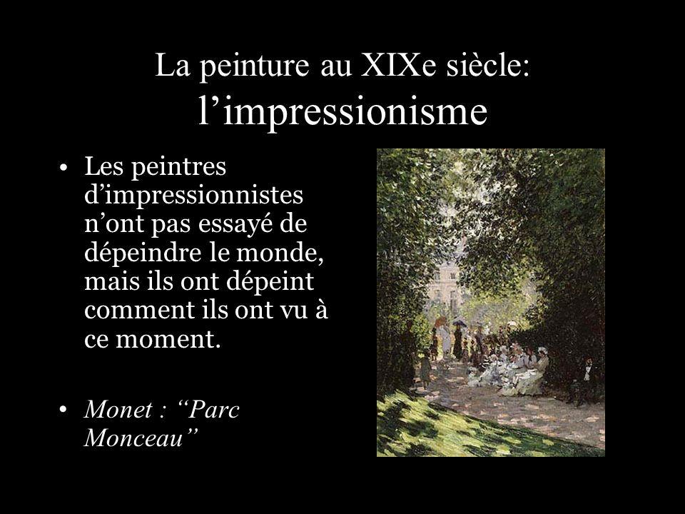 La peinture au XIXe siècle: l'impressionisme