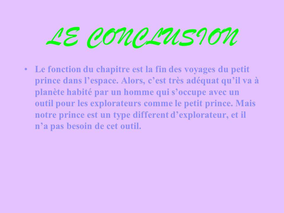 LE CONCLUSION