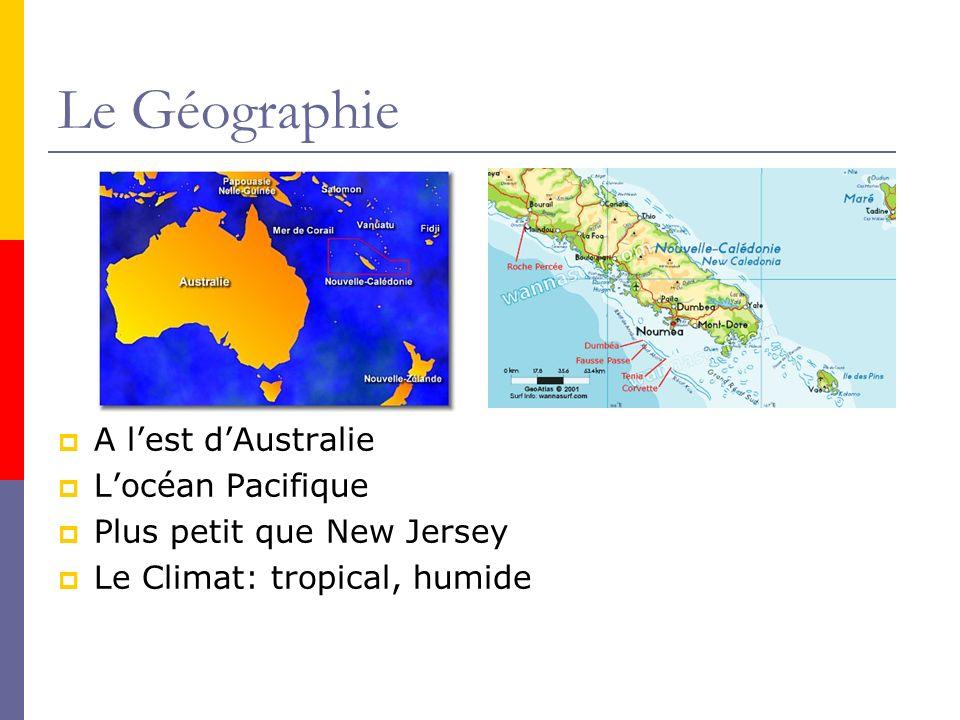 Le Géographie A l'est d'Australie L'océan Pacifique
