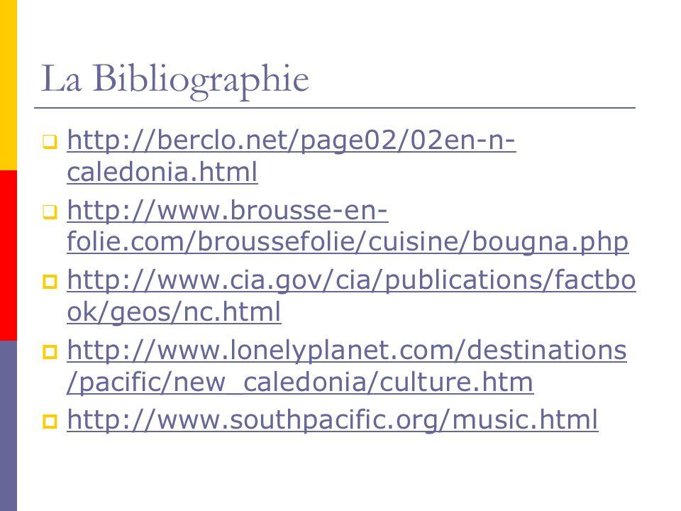 La Bibliographie http://berclo.net/page02/02en-n-caledonia.html