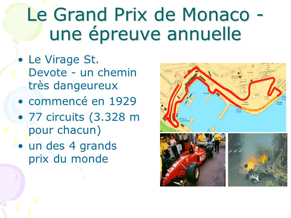 Le Grand Prix de Monaco - une épreuve annuelle