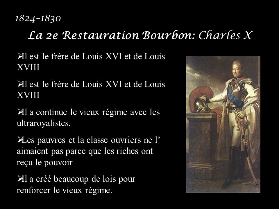 La 2e Restauration Bourbon: Charles X