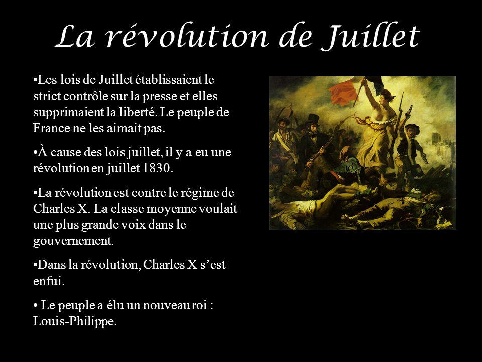 La révolution de Juillet