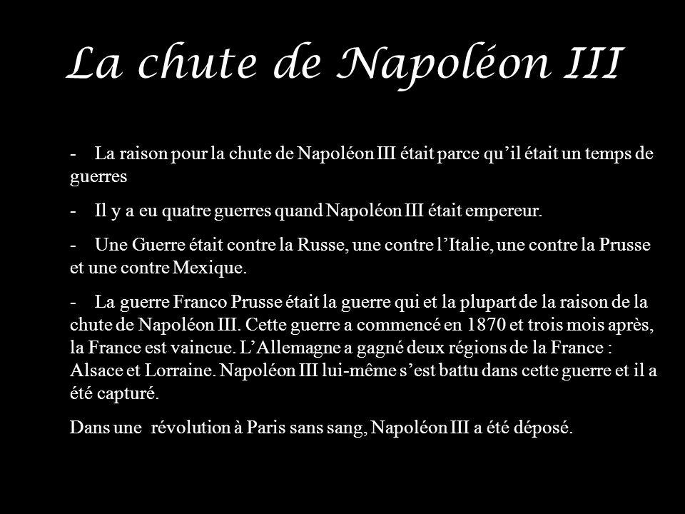 La chute de Napoléon III