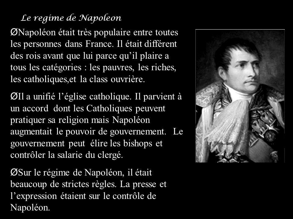 Le regime de Napoleon