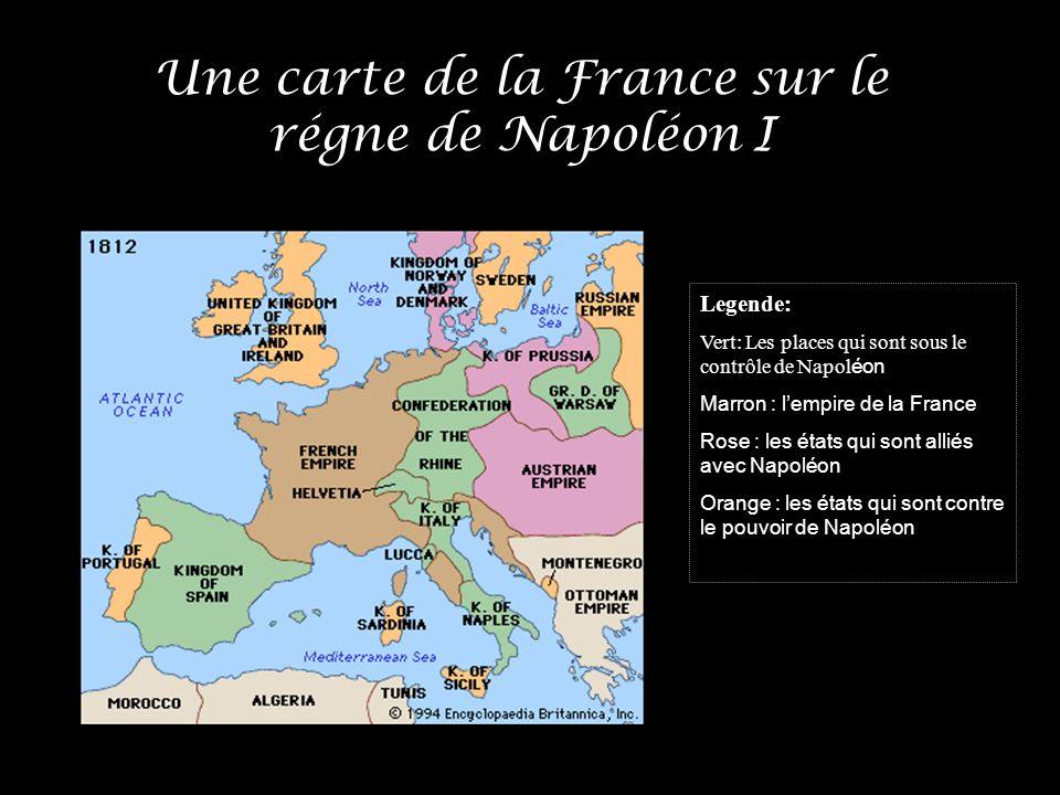Une carte de la France sur le régne de Napoléon I
