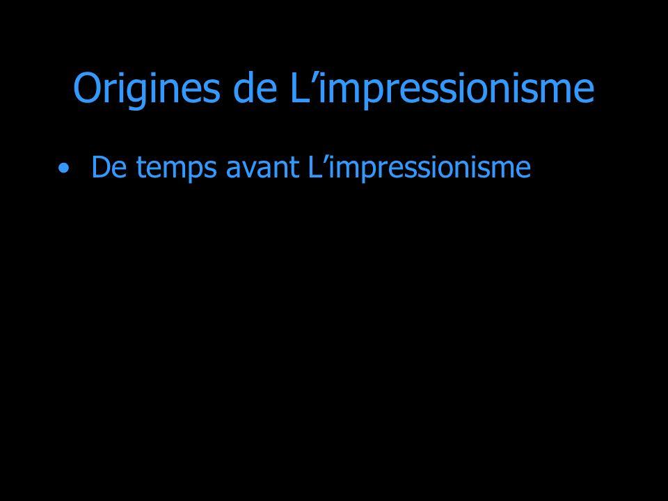 Origines de L'impressionisme