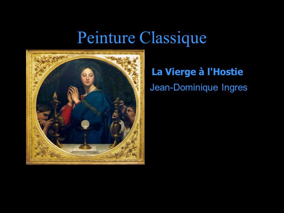 Peinture Classique La Vierge à l Hostie Jean-Dominique Ingres.
