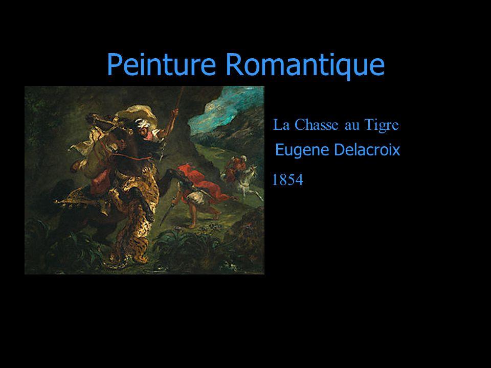 Peinture Romantique La Chasse au Tigre Eugene Delacroix 1854