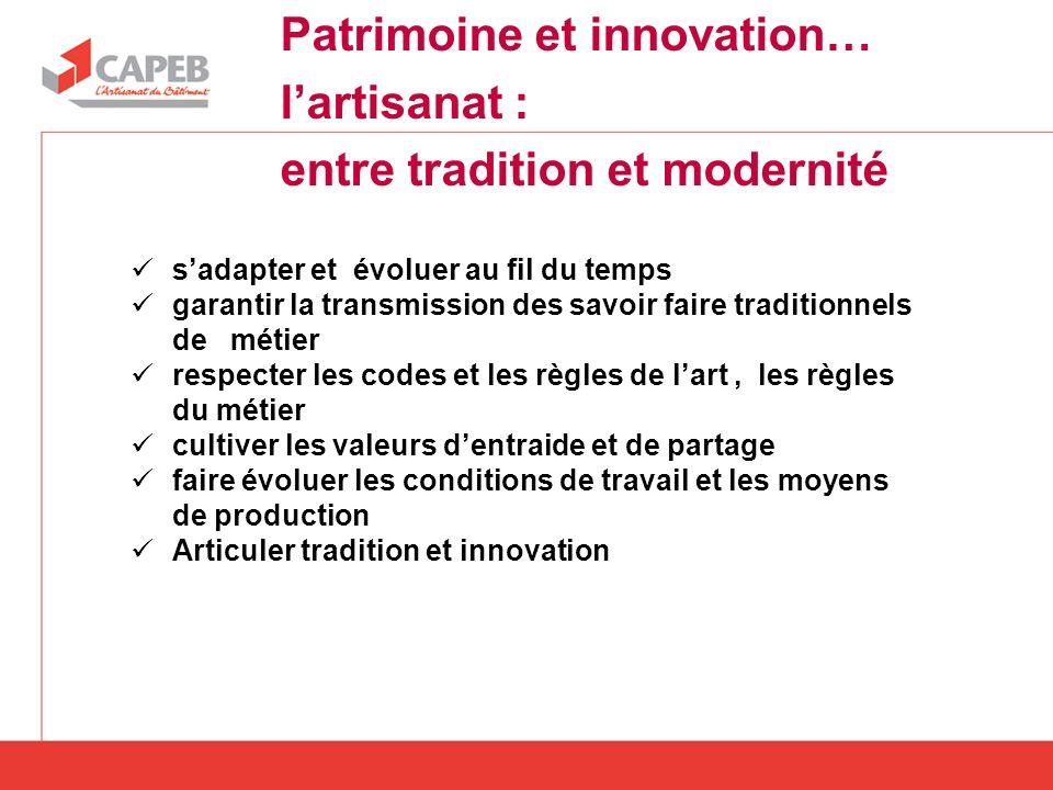 Patrimoine et innovation… l'artisanat : entre tradition et modernité