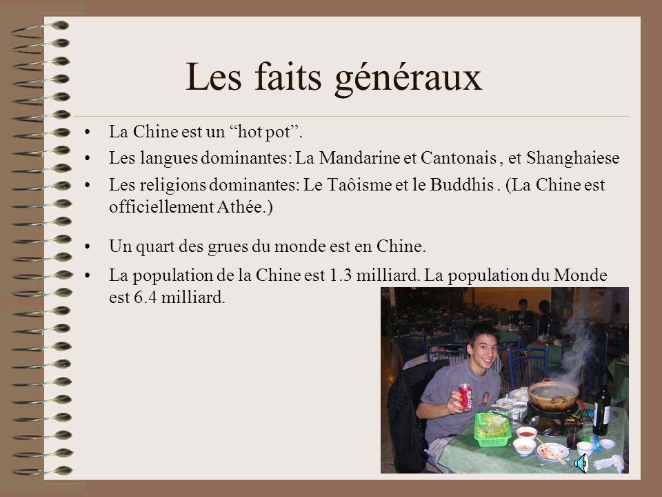 Les faits généraux La Chine est un hot pot .